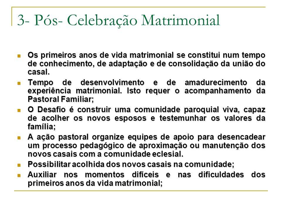 3- Pós- Celebração Matrimonial