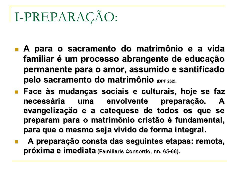 I-PREPARAÇÃO: