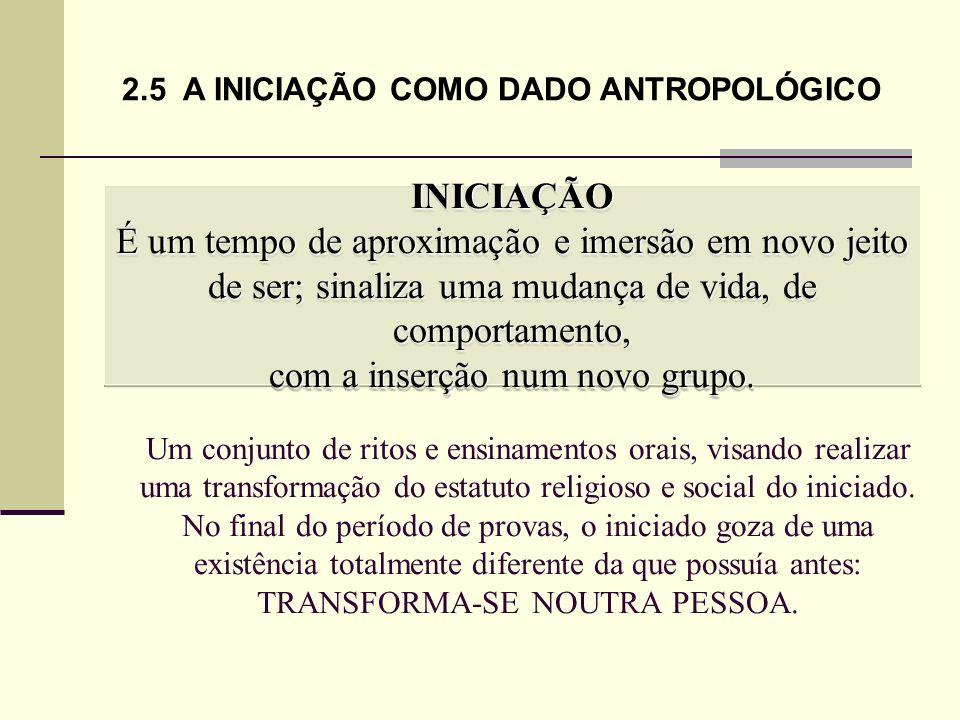 2.5 A INICIAÇÃO COMO DADO ANTROPOLÓGICO