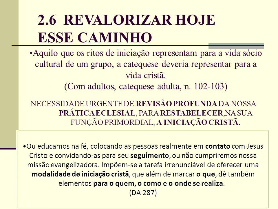2.6 REVALORIZAR HOJE ESSE CAMINHO