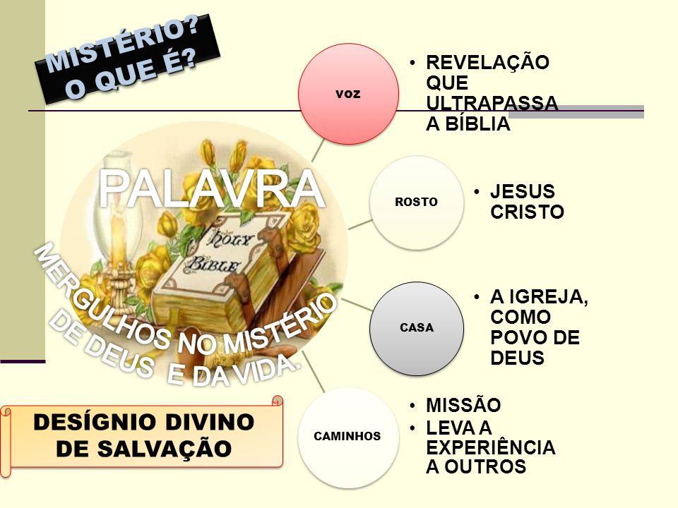 PALAVRA MERGULHOS NO MISTÉRIO MISTÉRIO O QUE É DE DEUS E DA VIDA.