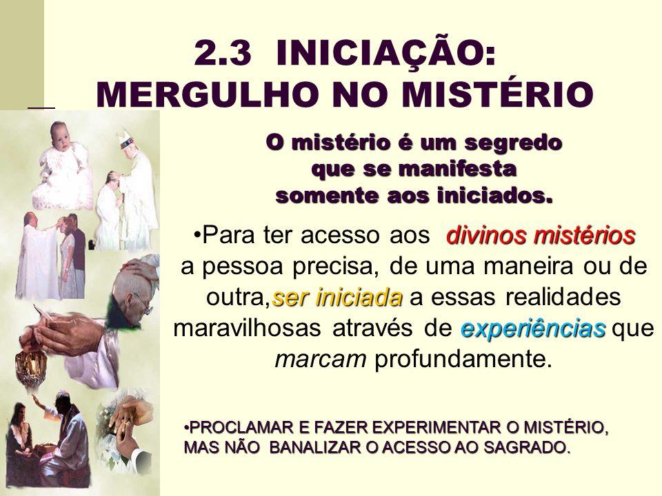 2.3 INICIAÇÃO: MERGULHO NO MISTÉRIO