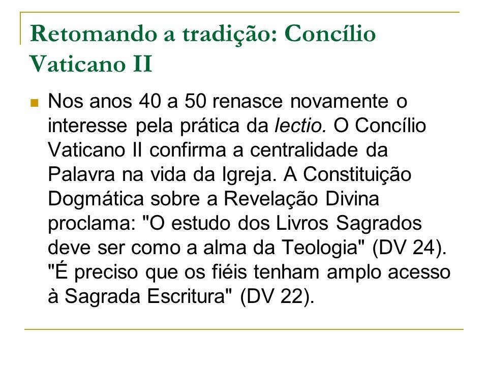 Retomando a tradição: Concílio Vaticano II