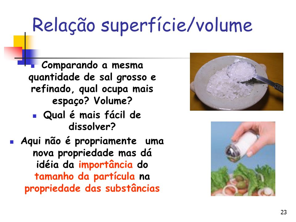 Relação superfície/volume