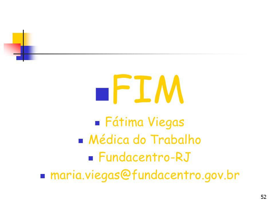 FIM Fátima Viegas Médica do Trabalho Fundacentro-RJ