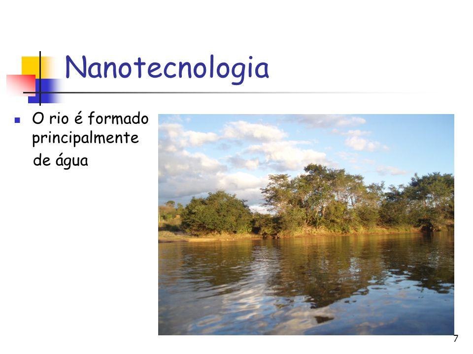 Nanotecnologia O rio é formado principalmente de água