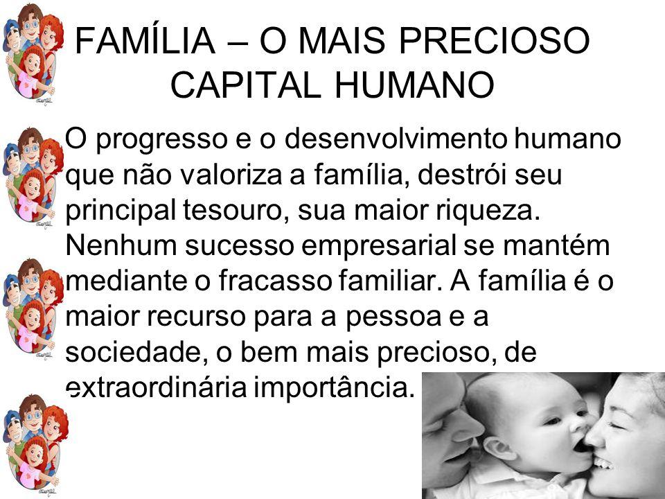 FAMÍLIA – O MAIS PRECIOSO CAPITAL HUMANO