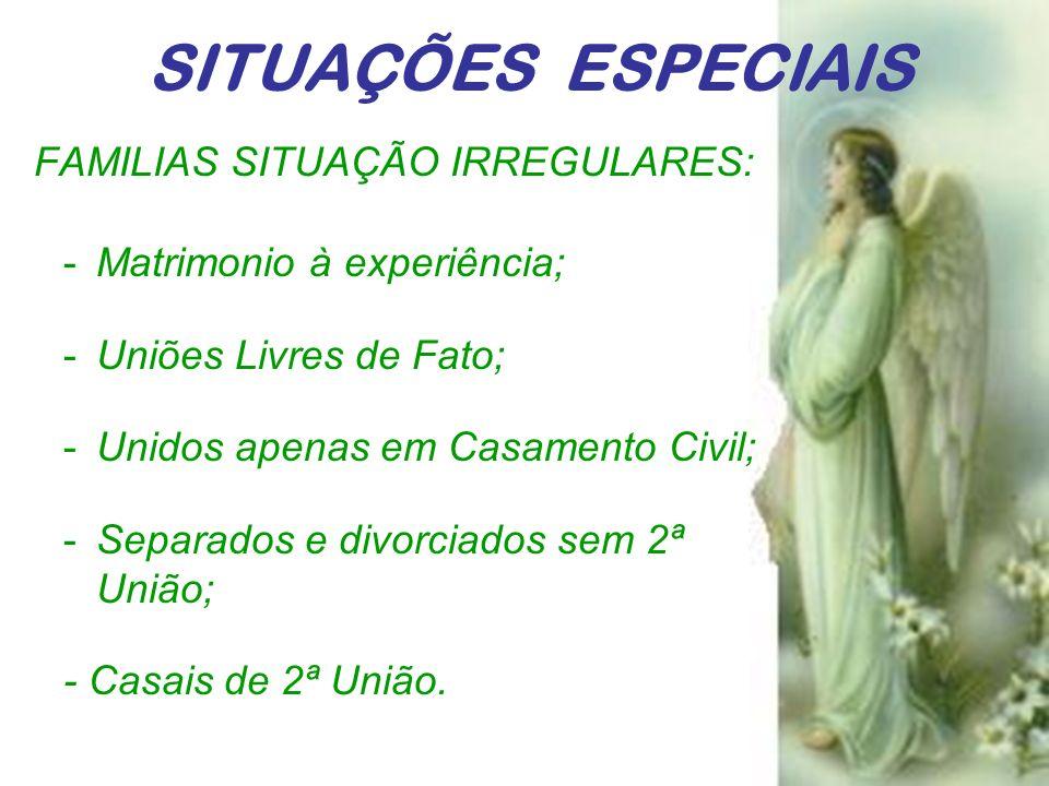 SITUAÇÕES ESPECIAIS FAMILIAS SITUAÇÃO IRREGULARES: