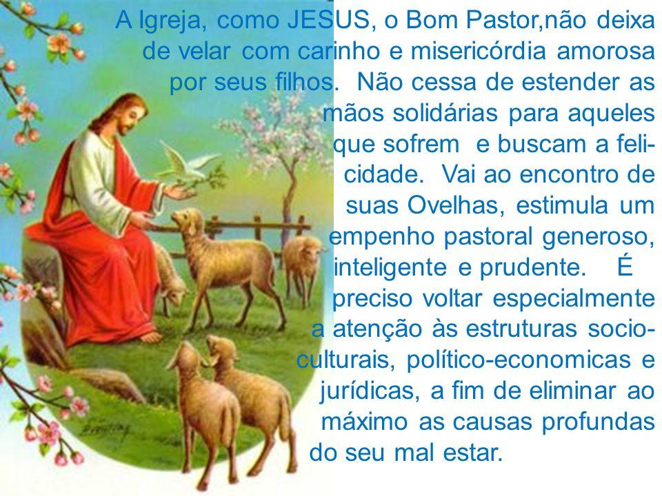 A Igreja, como JESUS, o Bom Pastor,não deixa
