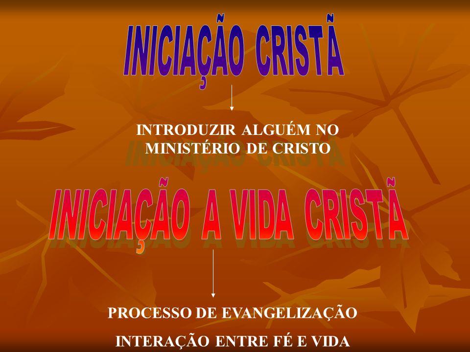 INTRODUZIR ALGUÉM NO MINISTÉRIO DE CRISTO