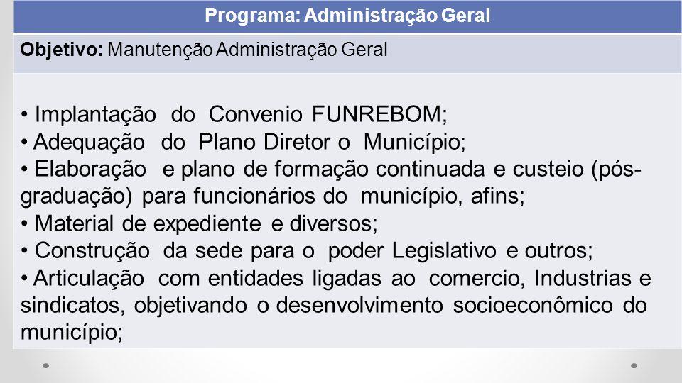 Programa: Administração Geral