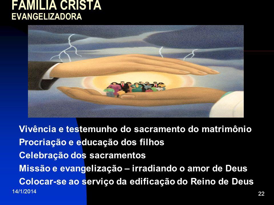 FAMÍLIA CRISTÃ EVANGELIZADORA