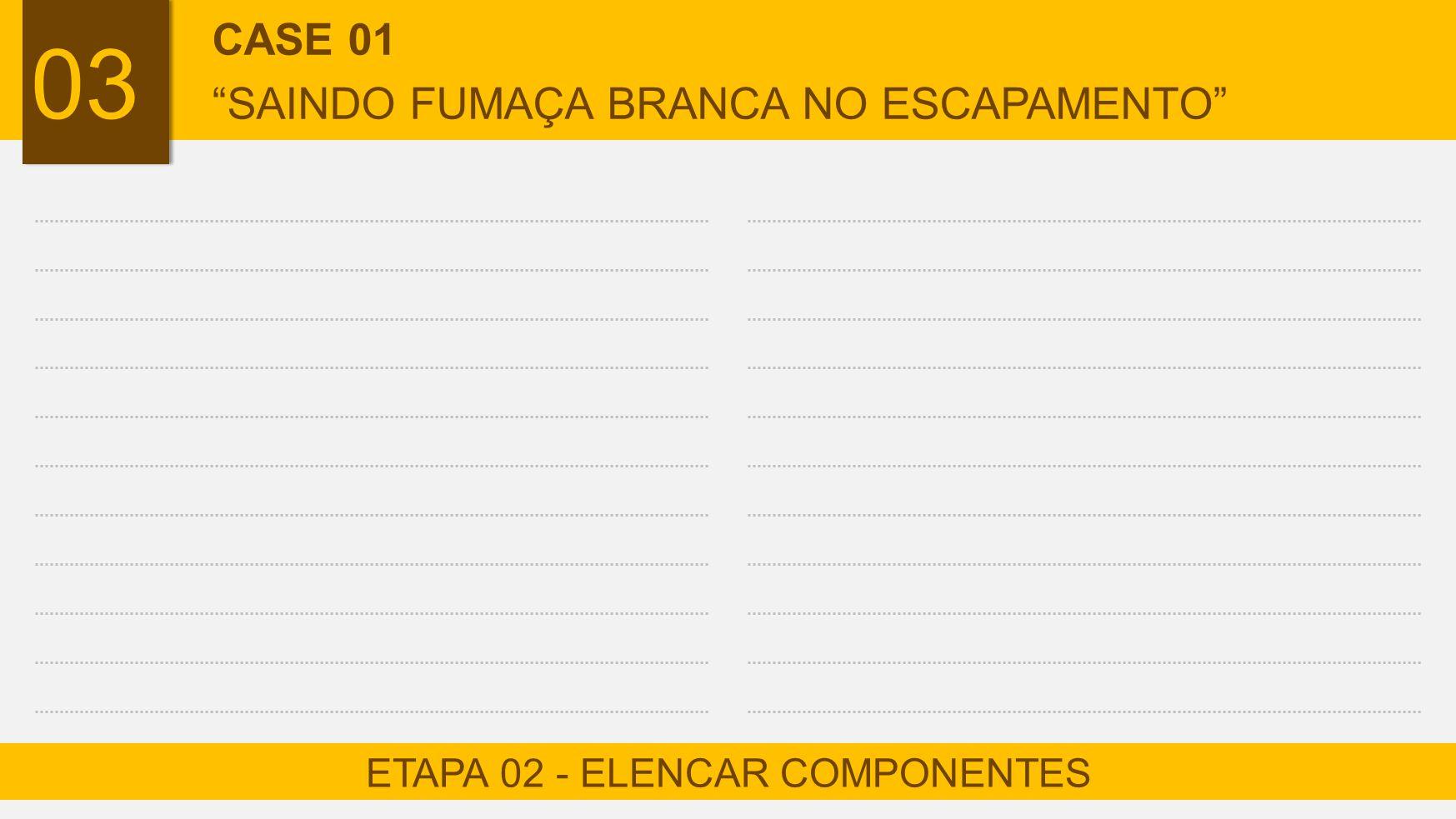 ETAPA 02 - ELENCAR COMPONENTES