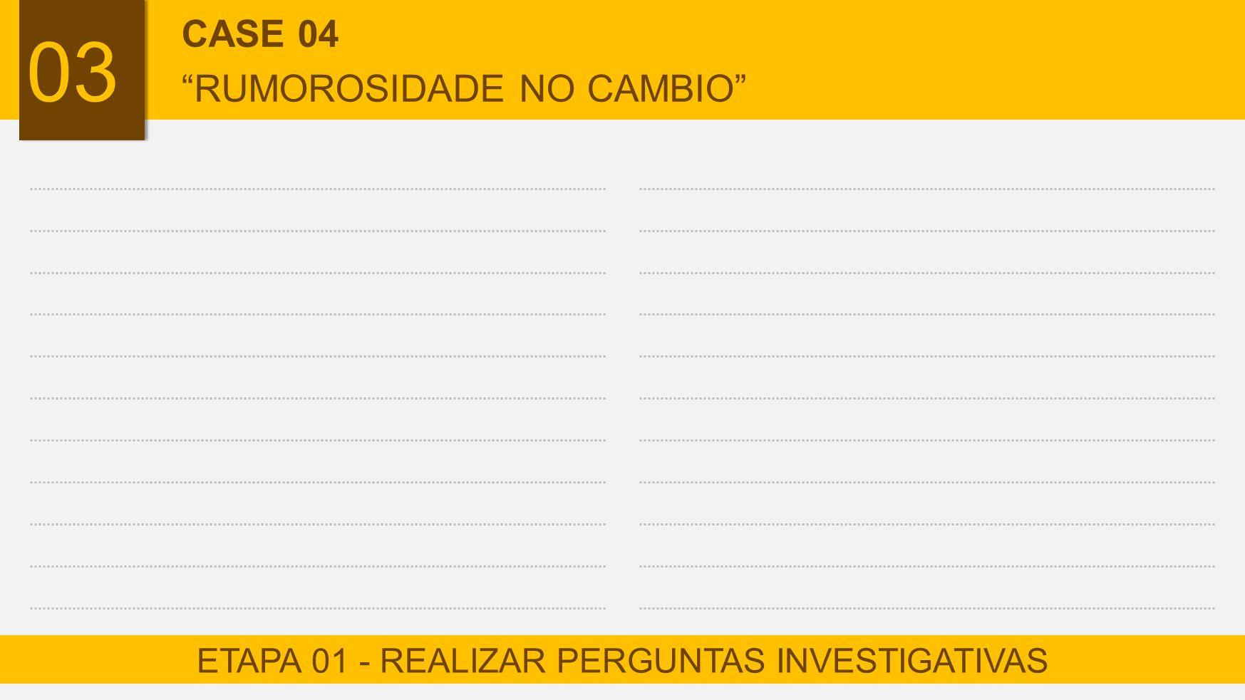 ETAPA 01 - REALIZAR PERGUNTAS INVESTIGATIVAS