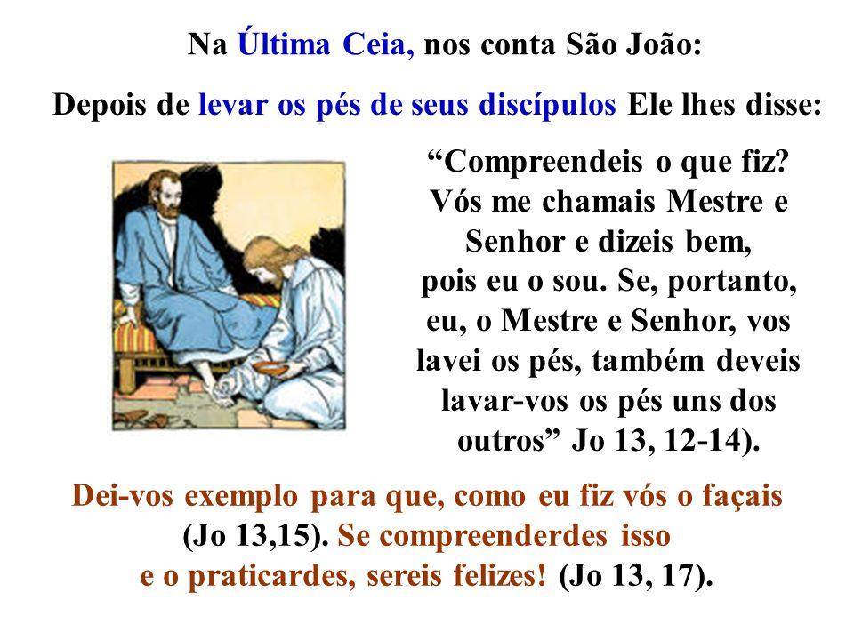 Na Última Ceia, nos conta São João: