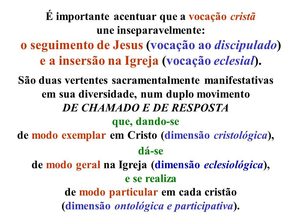 o seguimento de Jesus (vocação ao discipulado)