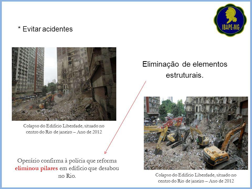 Eliminação de elementos estruturais.