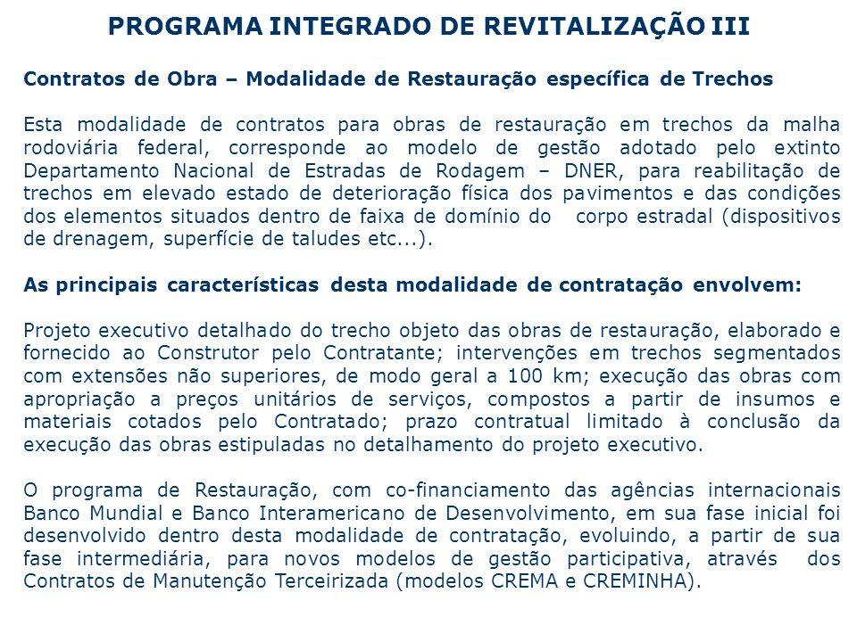 PROGRAMA INTEGRADO DE REVITALIZAÇÃO III