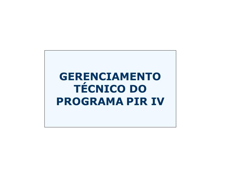 GERENCIAMENTO TÉCNICO DO PROGRAMA PIR IV