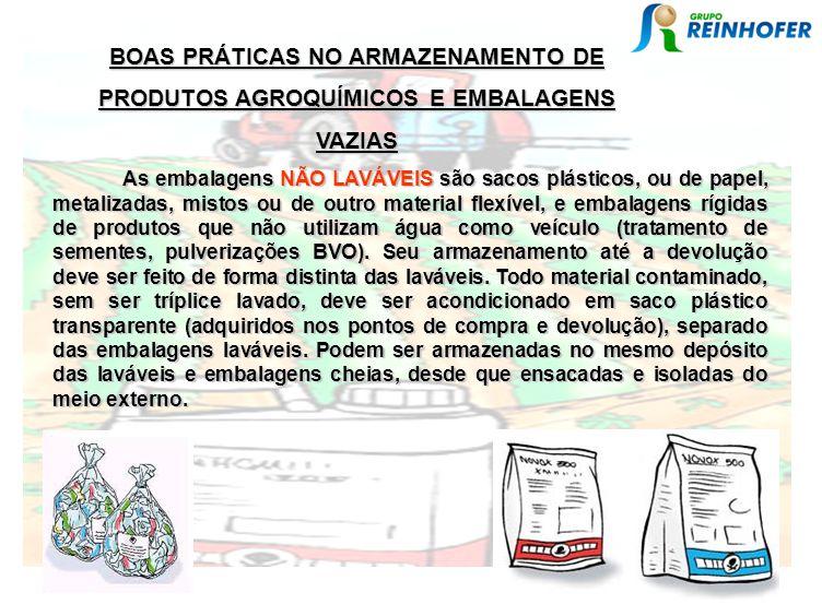 BOAS PRÁTICAS NO ARMAZENAMENTO DE PRODUTOS AGROQUÍMICOS E EMBALAGENS VAZIAS