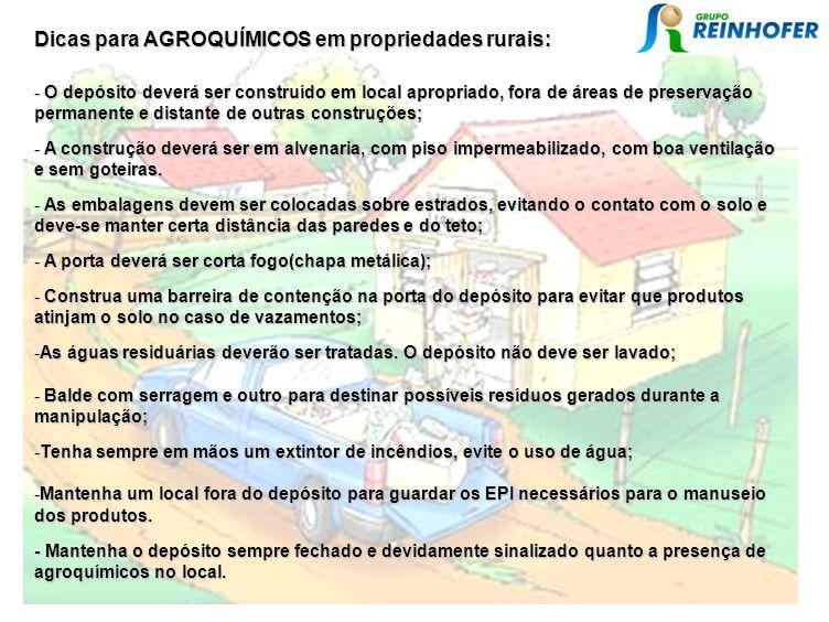 Dicas para AGROQUÍMICOS em propriedades rurais: