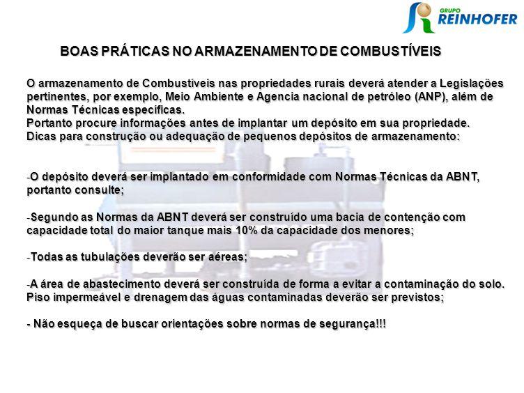 BOAS PRÁTICAS NO ARMAZENAMENTO DE COMBUSTÍVEIS