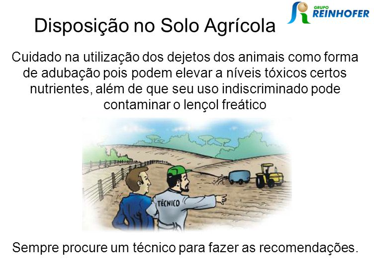 Disposição no Solo Agrícola