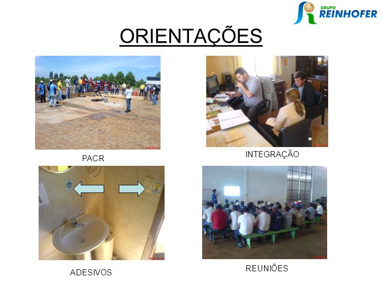 ORIENTAÇÕES INTEGRAÇÃO PACR REUNIÕES ADESIVOS
