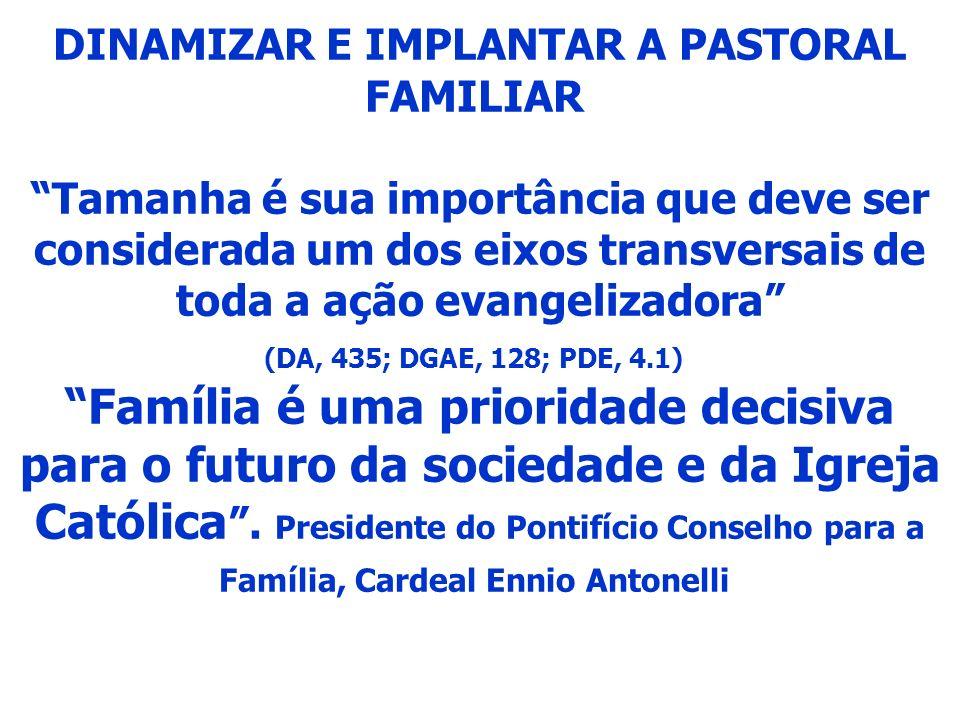 DINAMIZAR E IMPLANTAR A PASTORAL FAMILIAR