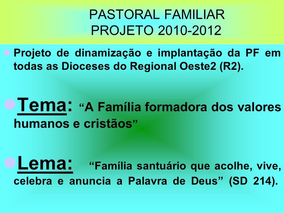 PASTORAL FAMILIAR PROJETO 2010-2012