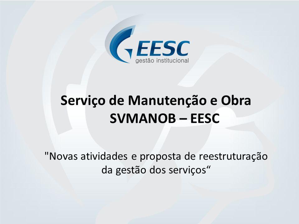 Serviço de Manutenção e Obra SVMANOB – EESC Novas atividades e proposta de reestruturação da gestão dos serviços