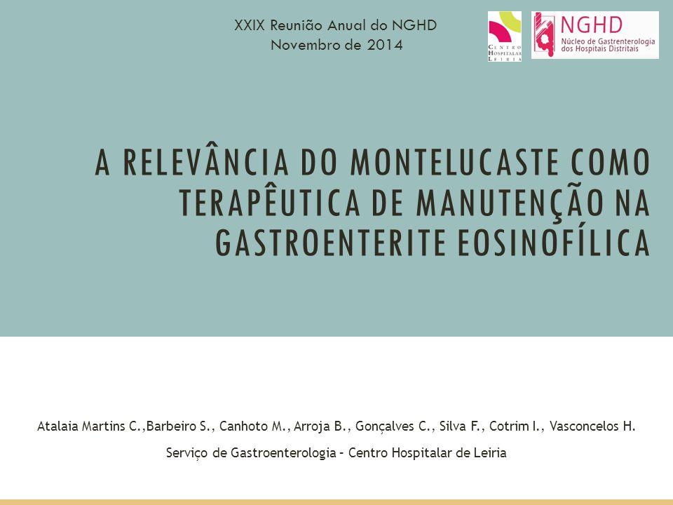Serviço de Gastroenterologia – Centro Hospitalar de Leiria