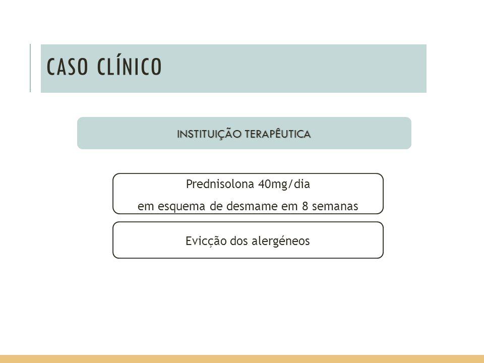 CASO CLÍNICO INSTITUIÇÃO TERAPÊUTICA Prednisolona 40mg/dia