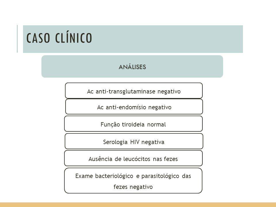 CASO CLÍNICO ANÁLISES Ac anti-transglutaminase negativo