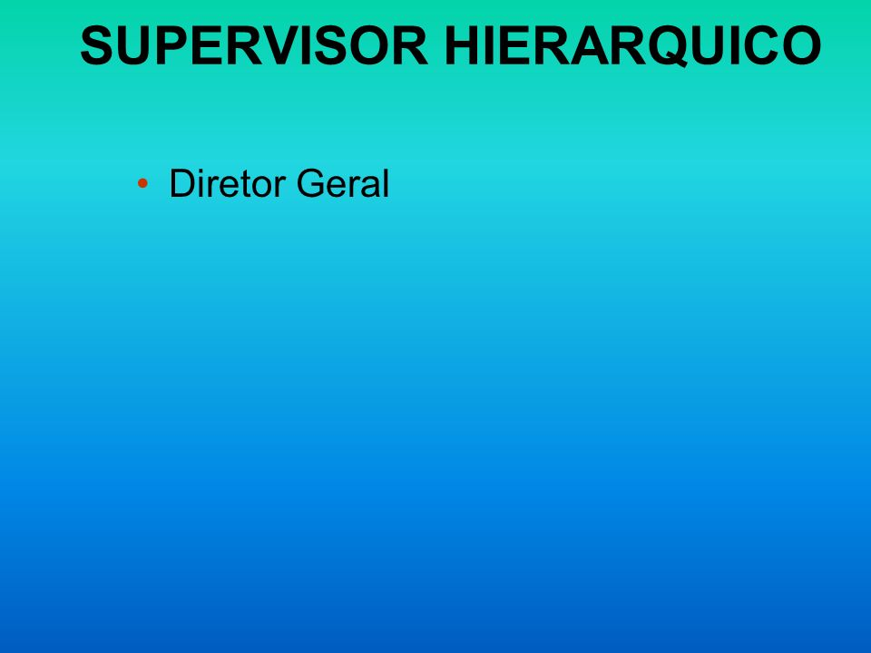 SUPERVISOR HIERARQUICO