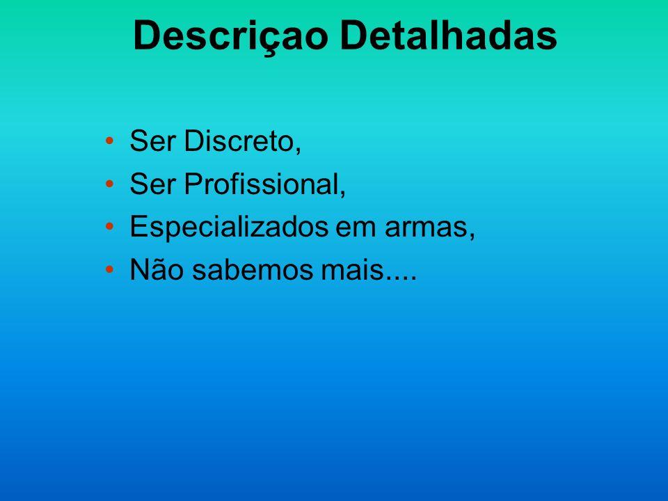 Descriçao Detalhadas Ser Discreto, Ser Profissional,