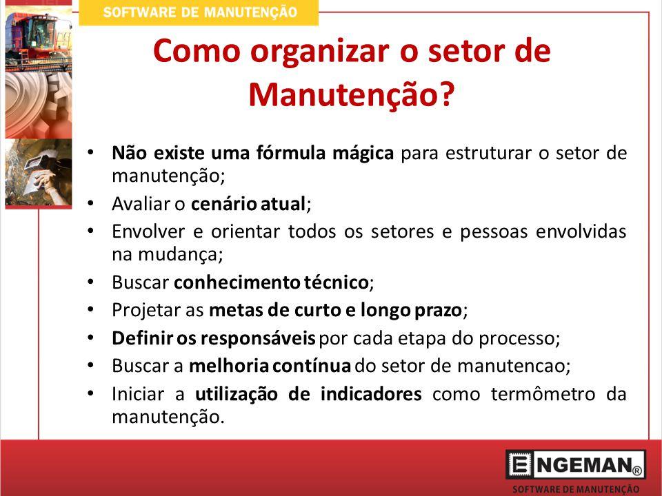 Como organizar o setor de Manutenção