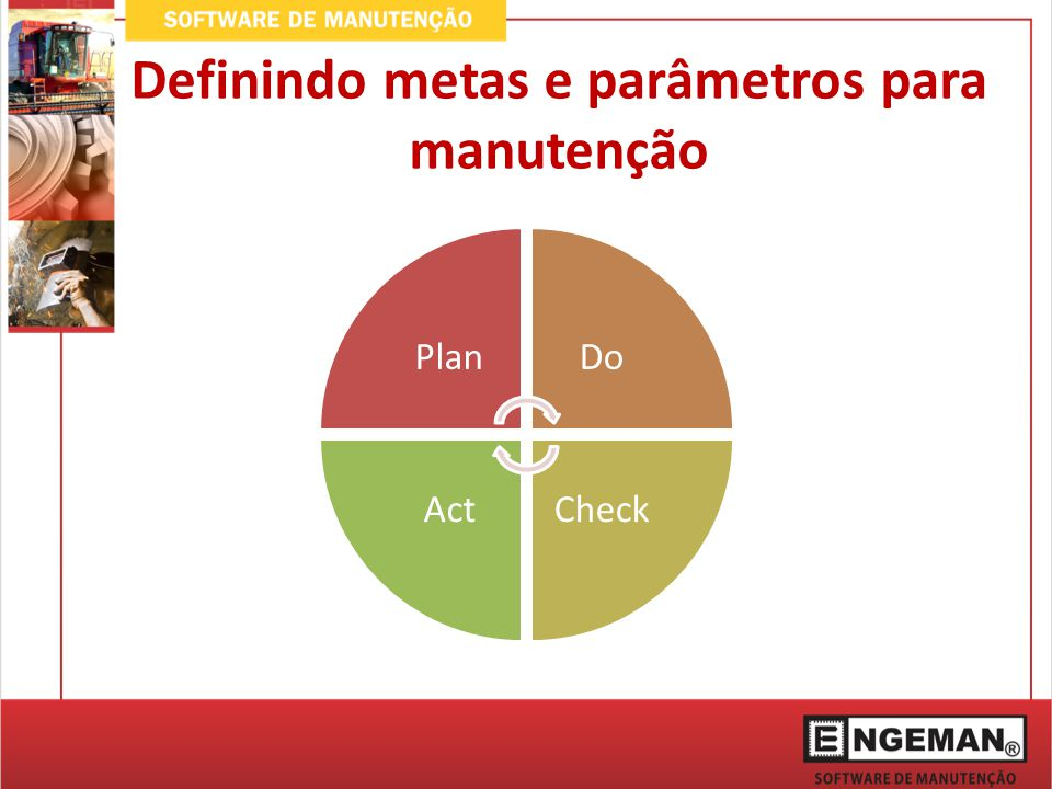 Definindo metas e parâmetros para manutenção