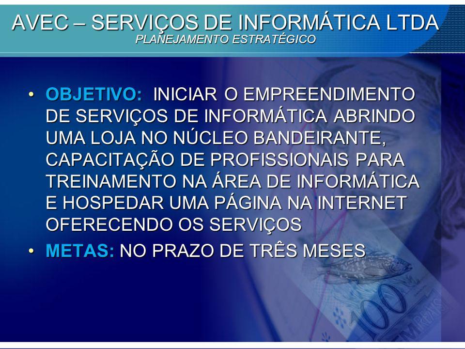 AVEC – SERVIÇOS DE INFORMÁTICA LTDA PLANEJAMENTO ESTRATÉGICO