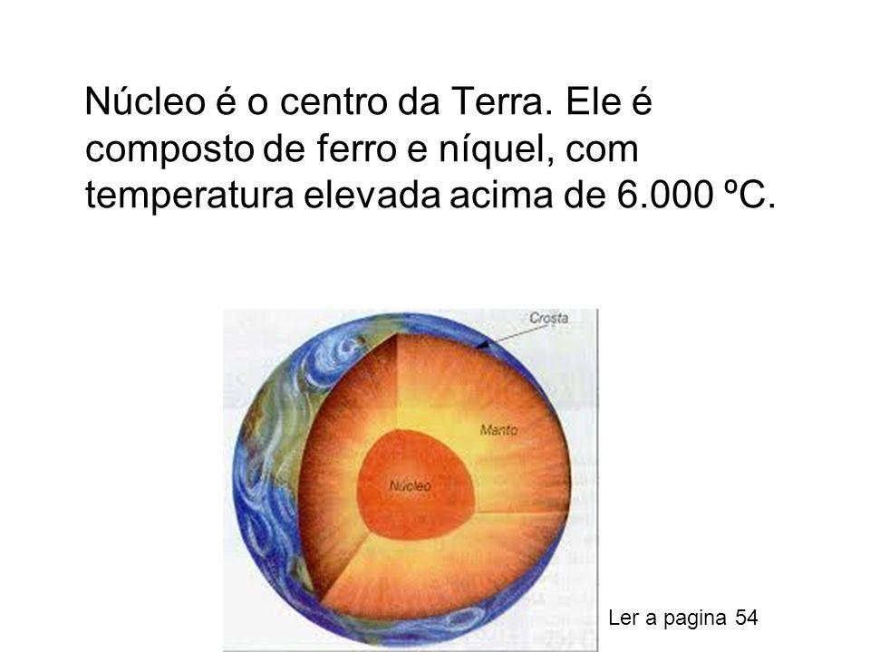 Núcleo é o centro da Terra