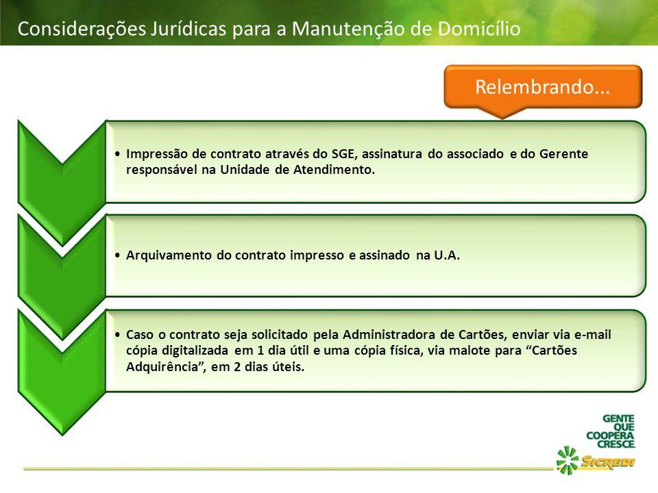Considerações Jurídicas para a Manutenção de Domicílio