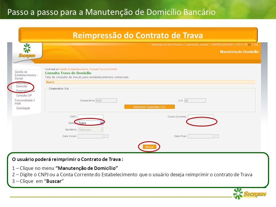 Reimpressão do Contrato de Trava