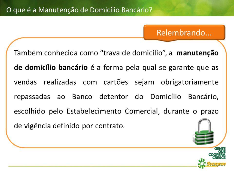O que é a Manutenção de Domicílio Bancário