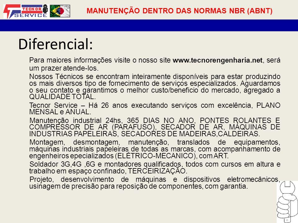 MANUTENÇÃO DENTRO DAS NORMAS NBR (ABNT)