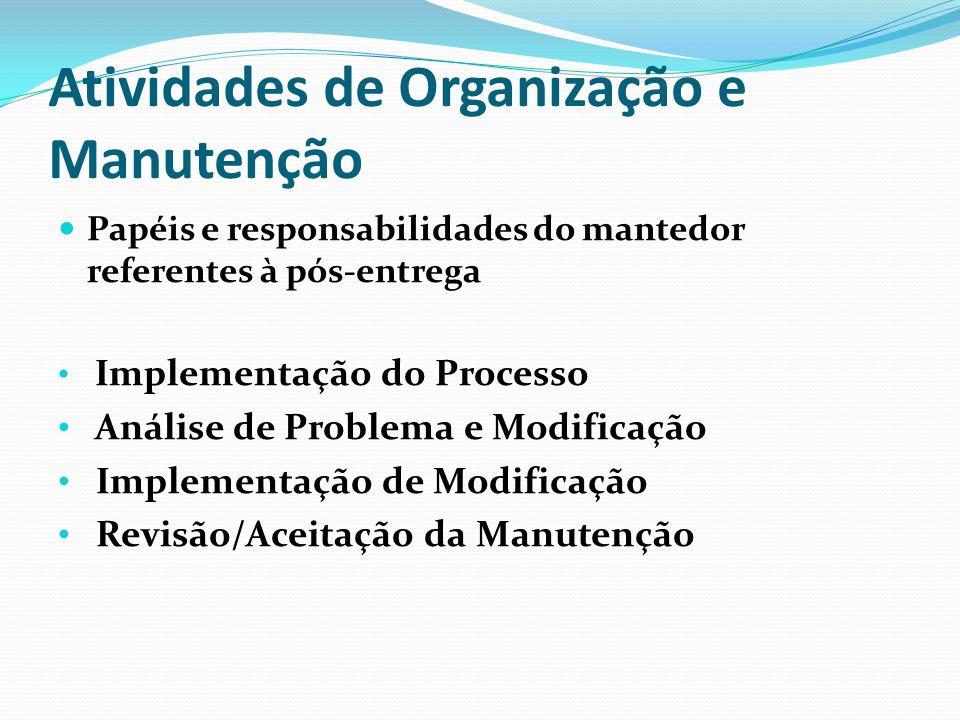 Atividades de Organização e Manutenção