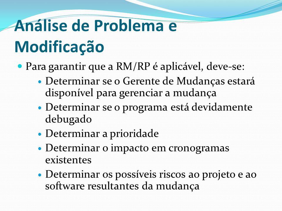 Análise de Problema e Modificação