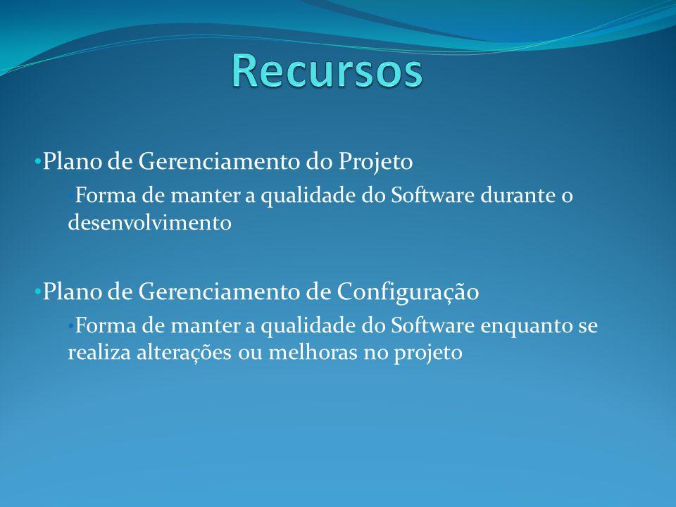 Recursos Plano de Gerenciamento do Projeto