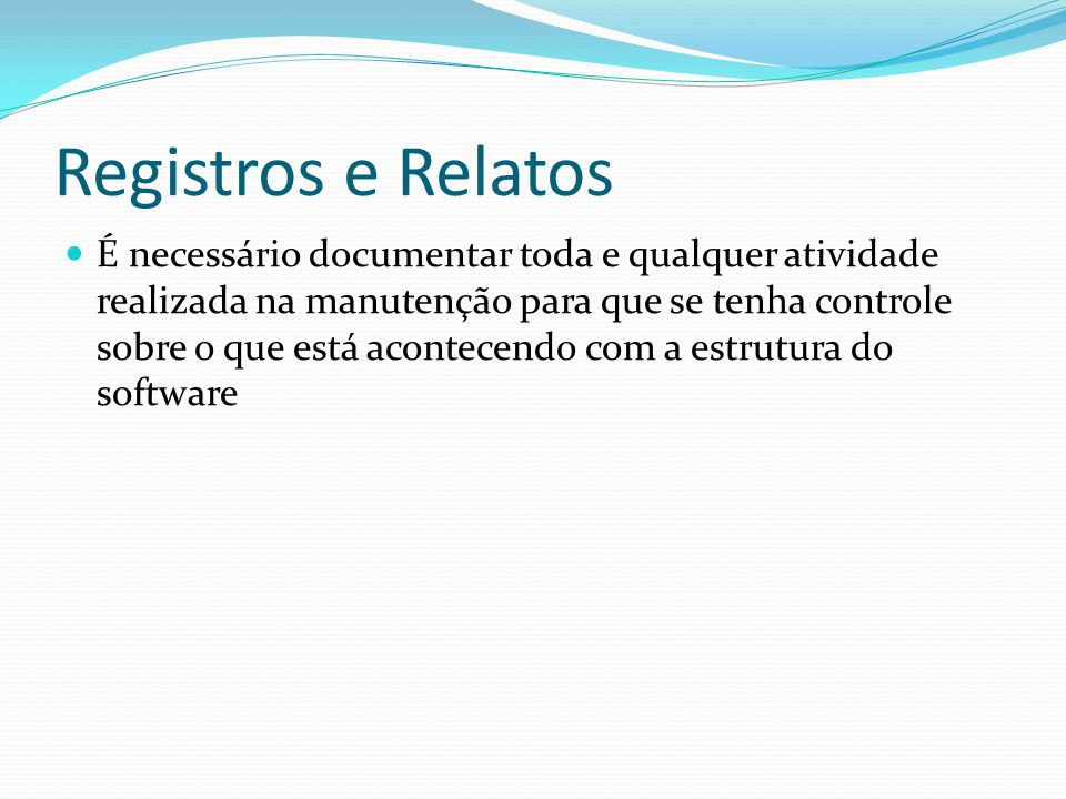 Registros e Relatos