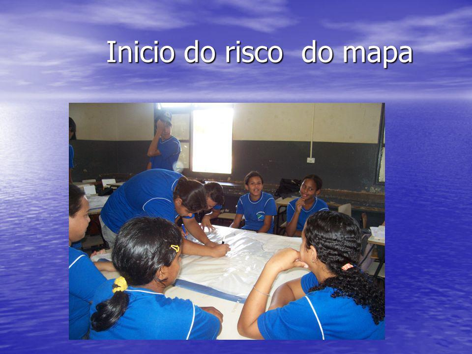 Inicio do risco do mapa