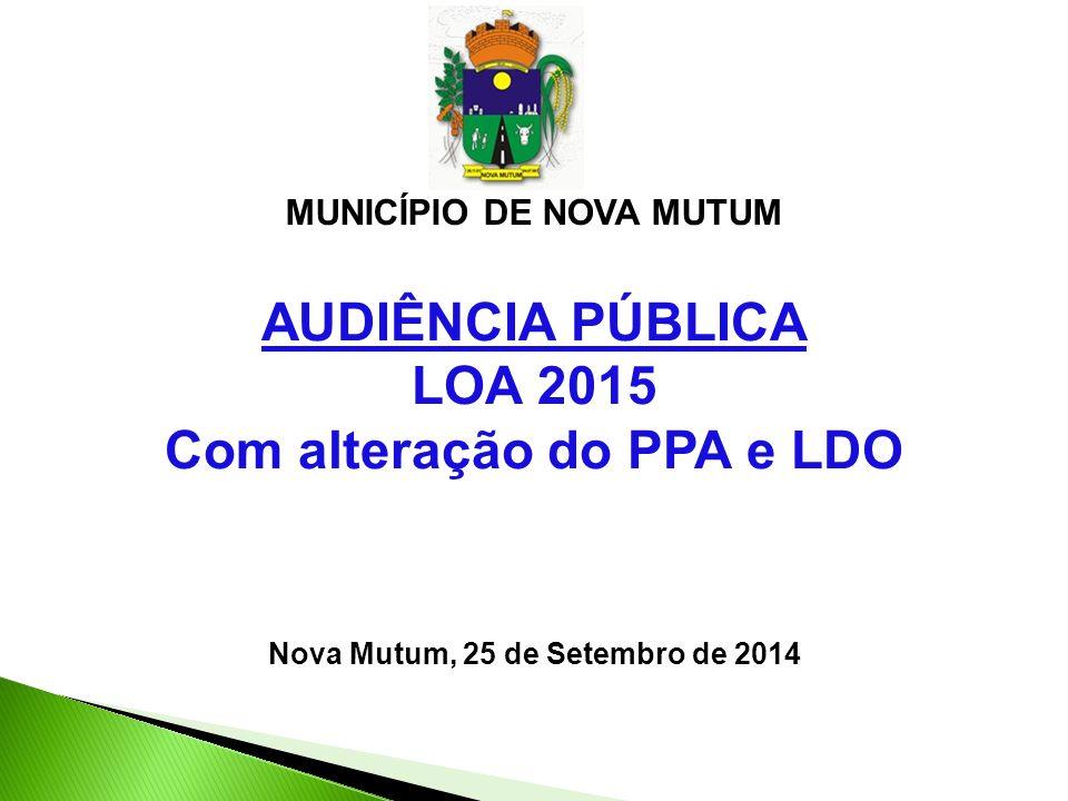 AUDIÊNCIA PÚBLICA LOA 2015 Com alteração do PPA e LDO
